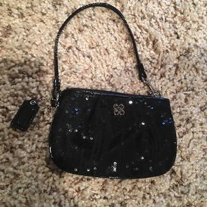 Coach Wristlet Black Sequined